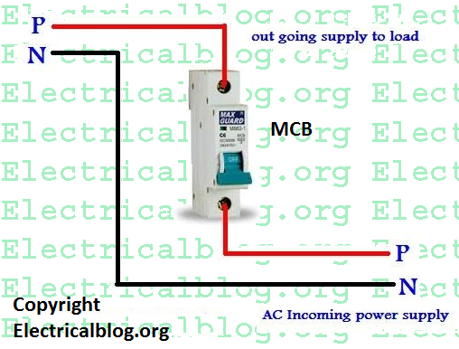 single pole mcb wiring diagram