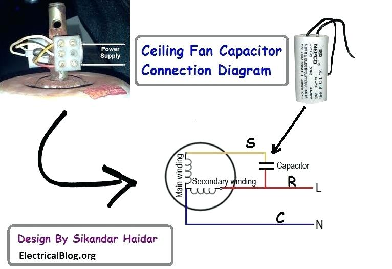 ceiling fan capacitor connection diagram