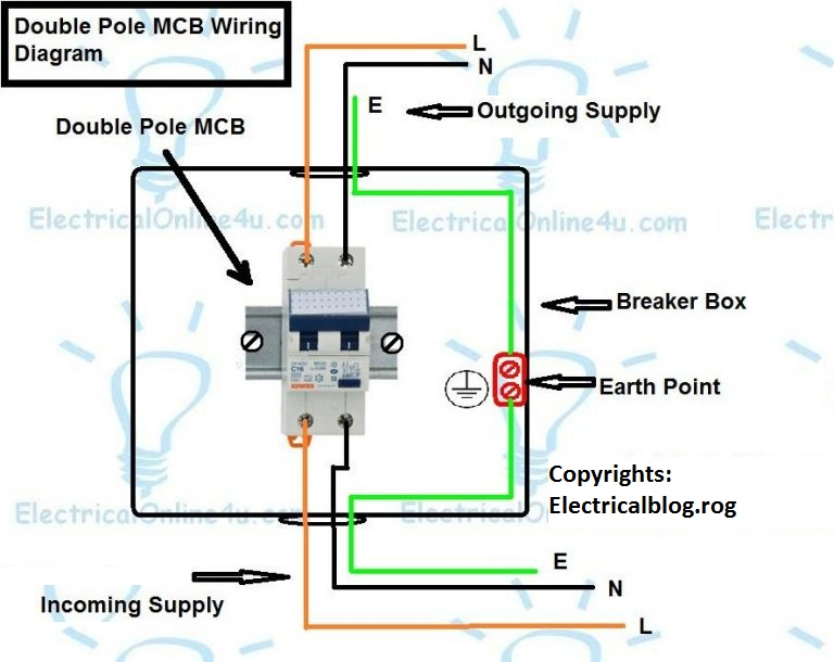 double pole mcb connection diagram