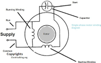 single phase motor winding diagram