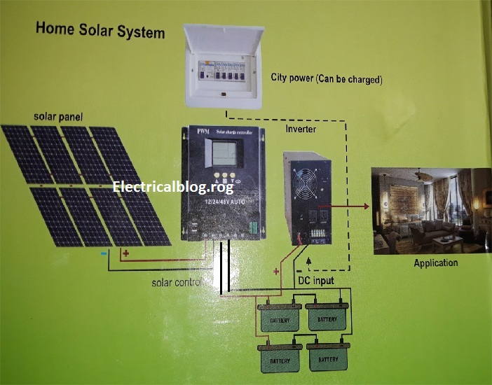 solar charge controller wiring diagram