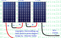 solar panels in series diagram