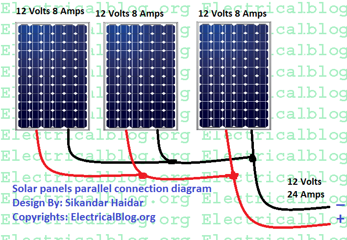 solar panels parallel connection diagram
