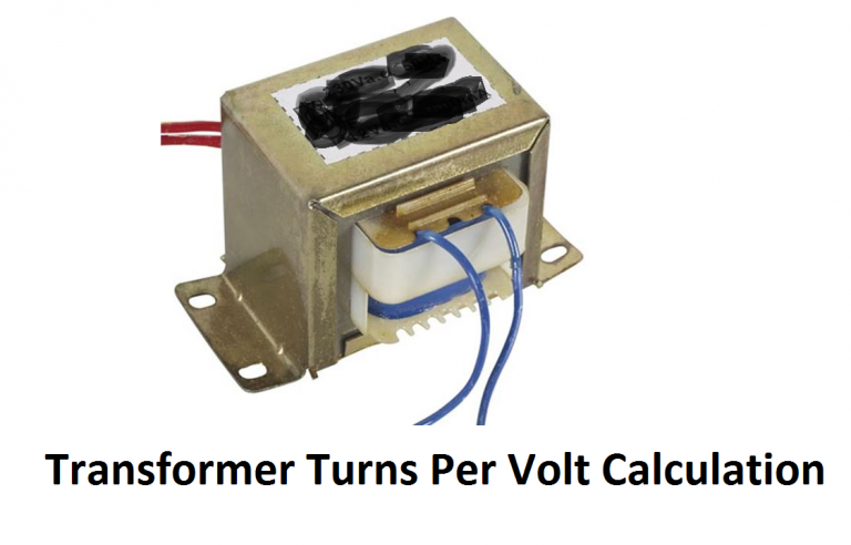 transformer turns per volt calculation