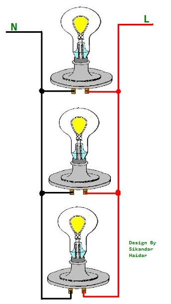 wiring lights in parallel diagram