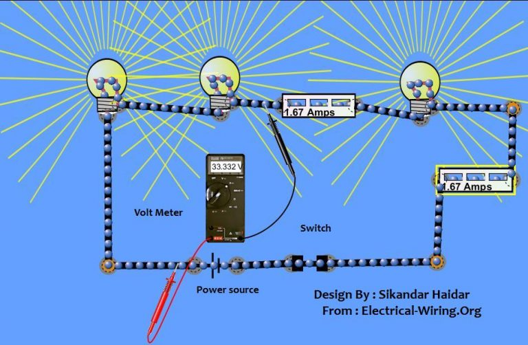 wiring lights in series connection diagram