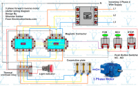 3 Phase Forward Reverse Motor Control Circuit Diagram