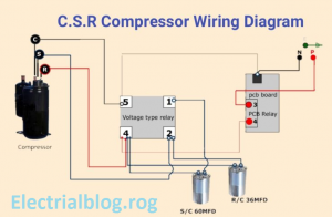 Compressor Wiring Diagram Single Phase from www.electricalblog.org