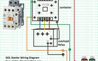 dol starter wiring diagram